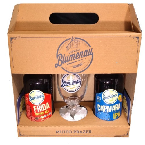 Kit Cerveja Frida Blond Ale, Capivara Little Ipa e Taça