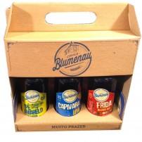 Kit com 3 cervejas, Ipê Amarelo, Capivara Little Ipa e Frida  Blond Ale