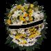 Coroa de Flores do Campo + 12 Flores Mistas tons claros