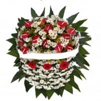 Coroa de Flores do Campo + 18 Antúrios e Gérberas