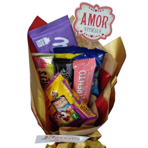 "BUQUE DE CHOCOLATE ""MEU AMOR"""
