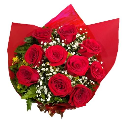 Buque de 10 Rosas Importadas