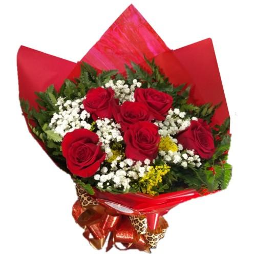 Buque de 6 Rosas Importadas