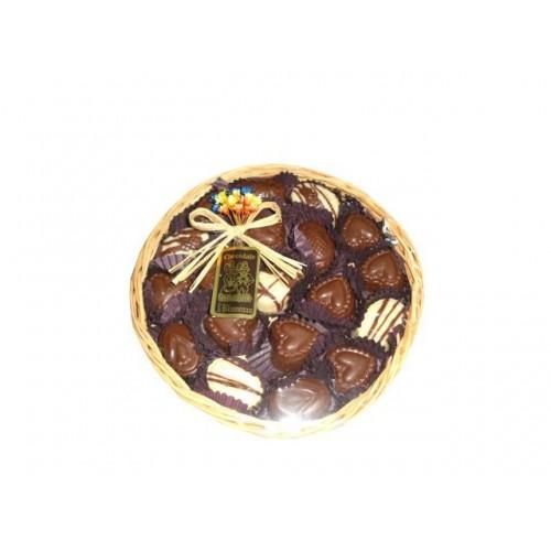 Bandeja de Vime Redonda de Chocolate